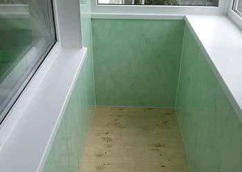 Отделка балкона сэндвич панелями